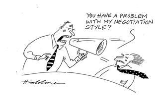 Negotiation skills training cartoon